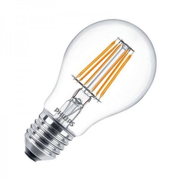 Philips LED Filament classic LEDbulb A60 7,5W 2700K warmweiß 806lm E27 klar nicht dimmbar