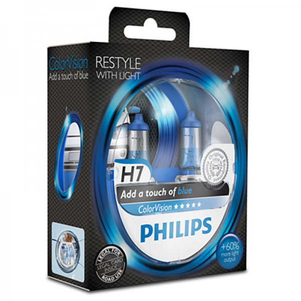 Philips ColorVision Blue H7 55W 12V 3350K warmweiß PX26d nicht dimmbar