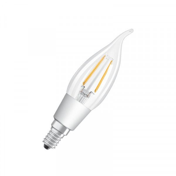 Osram/LEDVANCE LED Filament Superstar Classic BA 4,5W 2700K warmweiß 470lm klar E14 dimmbar