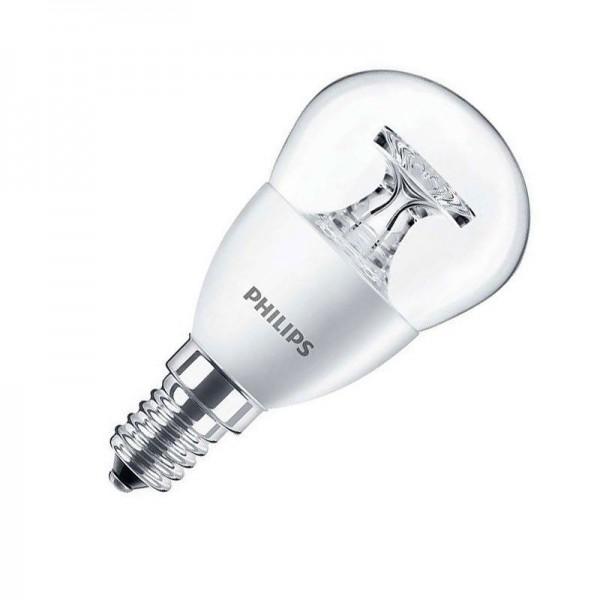 Philips LED CorePro Tropfenlampe P45 5,5W 4000K kaltweiß 520lm E14 klar nicht dimmbar