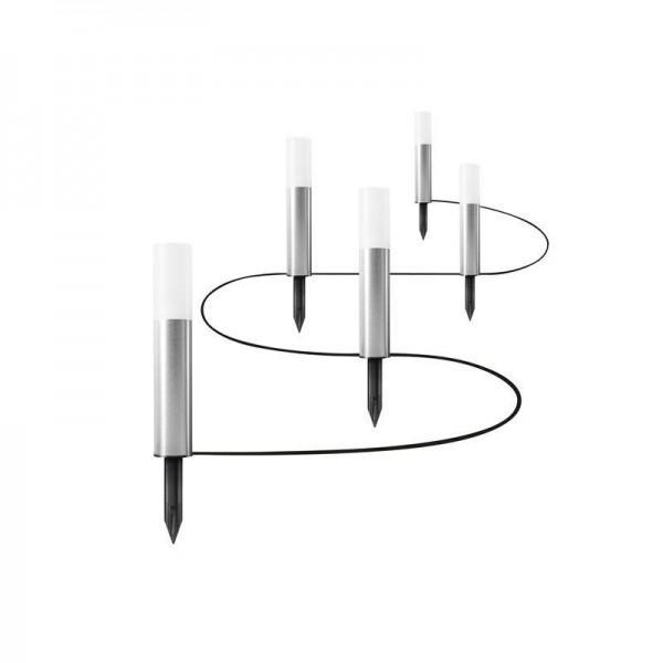 Osram/LEDVANCE LED Endura Garden Pole Mini 5,5W 3000K warmweiß 250lm IP44 Silber