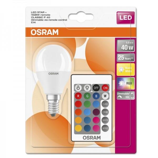Osram/LEDVANCE LED Star + Classic P 5,5W 2700K warmweiß 470 E14 matt (nicht) dimmbar