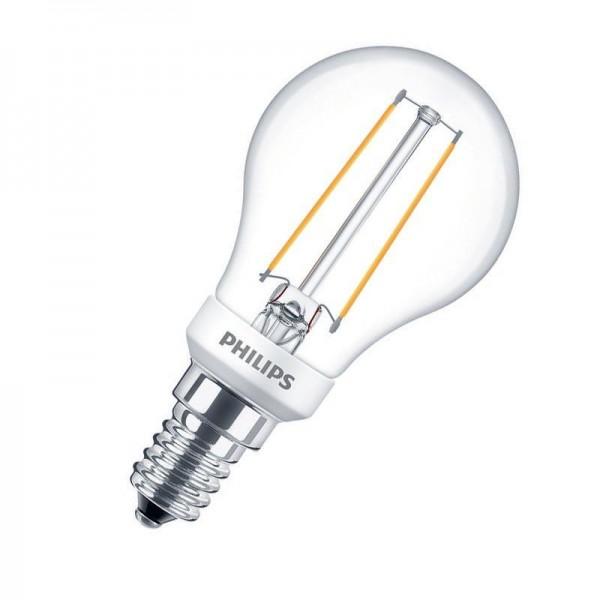 Philips LEDluster Classic P45 Filament 2,7W 2700K warmweiß 250lm E14 klar dimmbar