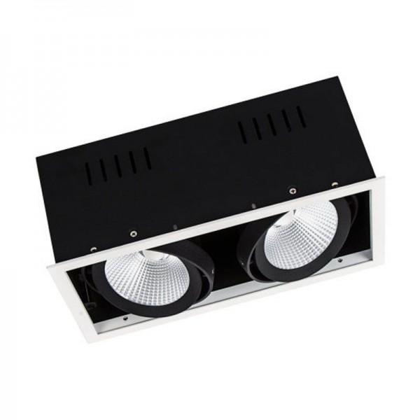 Osram/LEDVANCE LED Einbauleuchte Spot Multi 2x30W 3000K warmweiß 2x2700lm IP20 Weiß