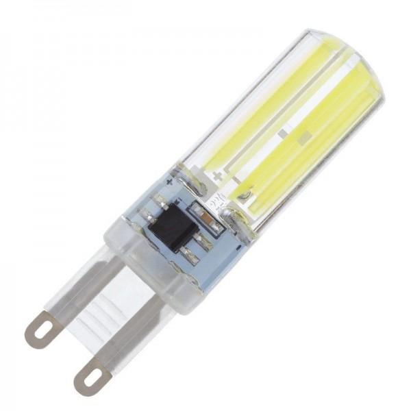 Modee LED COB Silikon Stiftsockellampe 5W 4000K neutralweiß 400lm G9 klar nicht dimmbar