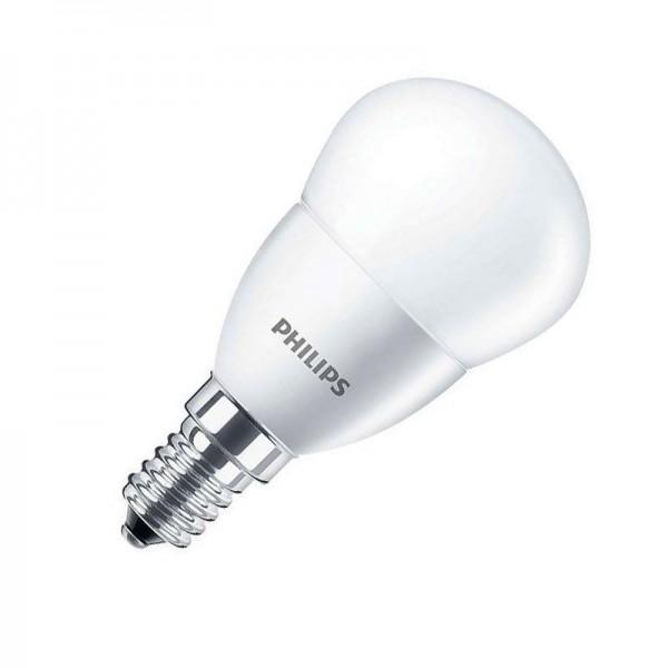 Philips LED CorePro Tropfenlampe P45 5,5W 4000K kaltweiß 520lm E14 matt nicht dimmbar