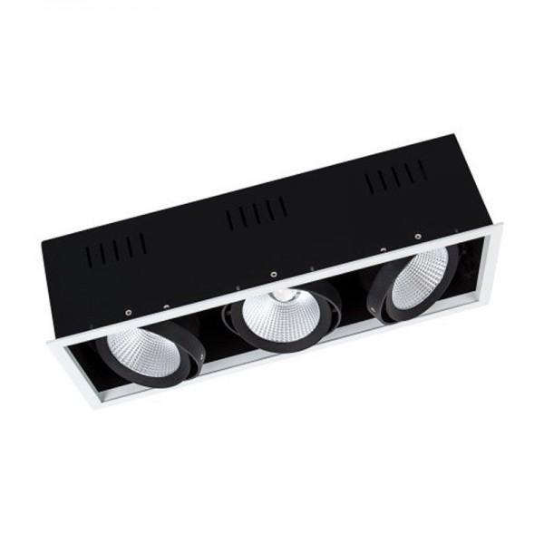 Osram/LEDVANCE LED Einbauleuchte Spot Multi 3x30W 3000K warmweiß 3x2700lm IP20 Weiß
