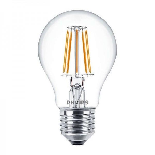 Philips LED Filament Classic LEDbulb A60 4,3W 2700K warmweiß 470lm E27 klar nicht dimmbar