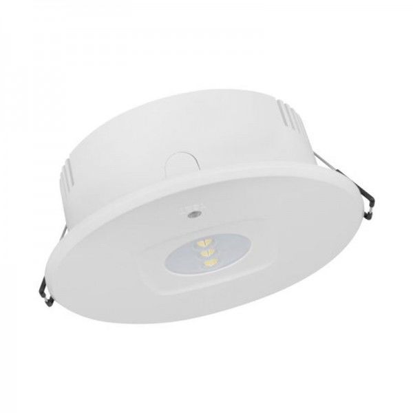 Osram/LEDVANCE LED Emergency DL DN120 Manual Test Antipanic 4W 6500K tageslichtweiß 235lm IP43 Weiß