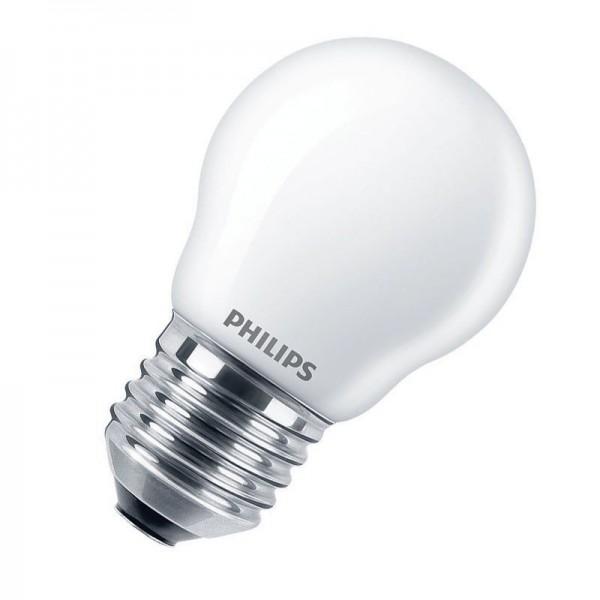 Philips LEDluster Classic P45 4,3W 2700K warmweiß 470lm E27 matt nicht dimmbar
