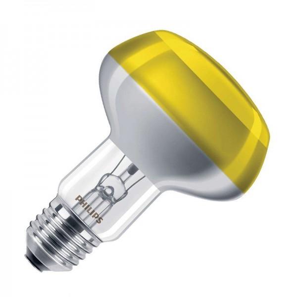 Philips NR80 Reflektorlampe Colours 60W 2700K warmweiß 304lm E27 klar/gelb dimmbar 120°