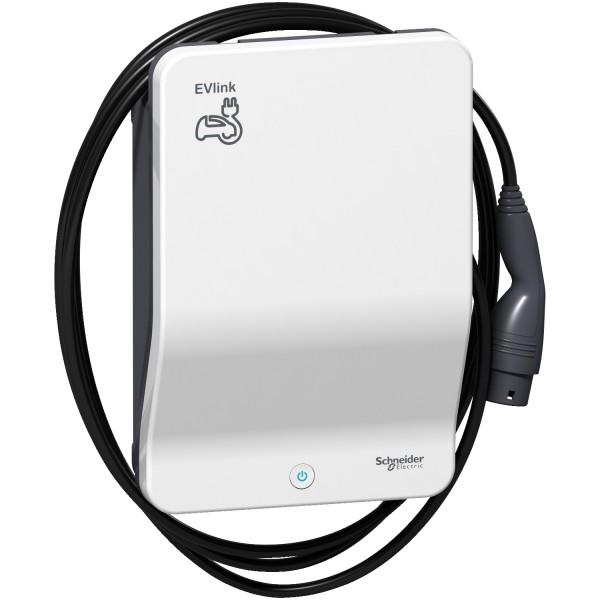Schneider Electric EVlink G4 Smart 22kW Wallbox mit Ladekabel Typ2 4,5m - EVB1A22PCKI - förderfähig