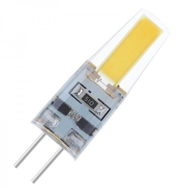 Modee LED COB Silikon Stiftsockellampe 2W 4000K neutralweiß 180lm G4 klar nicht dimmbar