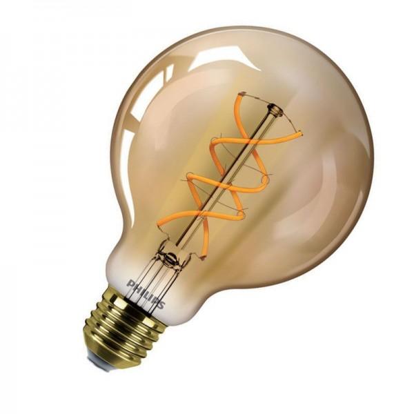 Philips LEDbulb Classic G93 Vintage Gold Filament 5W 2000K warmweiß 250lm E27 klar nicht dimmbar