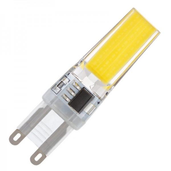 Modee LED COB Silikon Stiftsockellampe 3W 4000K neutralweiß 330lm G9 klar nicht dimmbar
