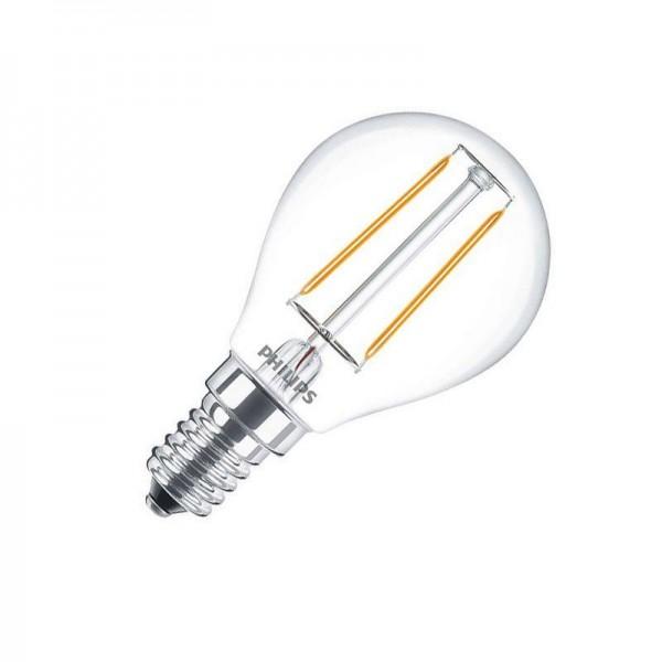Philips LED Filament Classic LEDLuster P45 2W 2700K warmweiß 250lm E14 klar nicht dimmbar