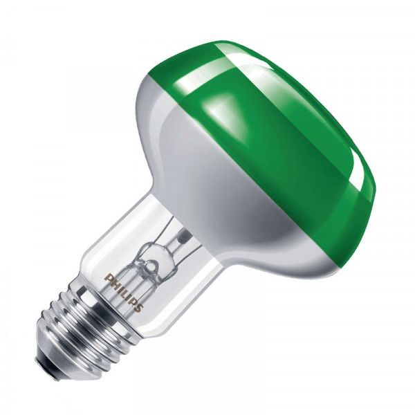 Philips NR80 Reflektorlampe Colours 60W 2700K warmweiß 122lm E27 klar/grün dimmbar 120°