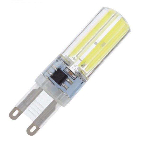 Modee LED COB Silikon Stiftsockellampe 5W 6000K tageslichtweiß 400lm G9 klar nicht dimmbar