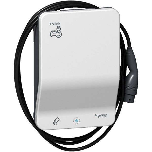 Schneider Electric EVlink G4 Smart 22kW Wallbox RFID mit Ladekabel Typ2 4,5m - EVB1A22PCRI