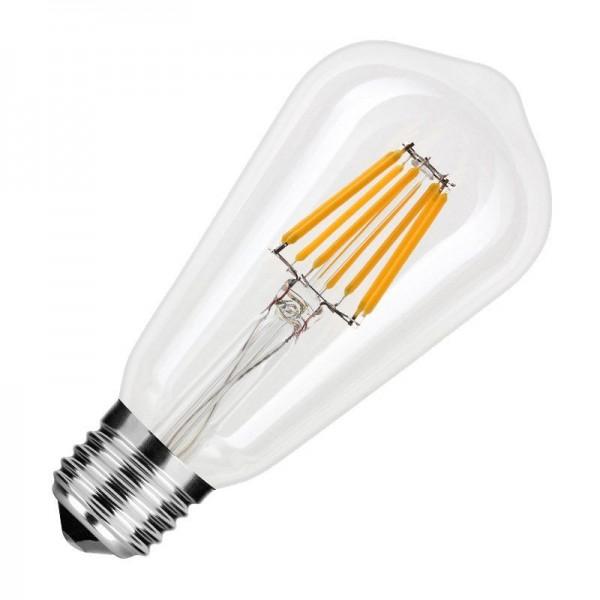 Modee LED Filament Birnenform ST64 8W 2700K warmweiß 750lm E27 klar nicht dimmbar