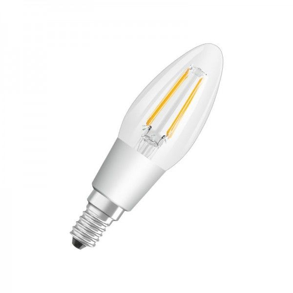 Osram/LEDVANCE LEDstar+ GlowDim Classic B 4,5W 220-240V 2700K warmweiß E14 klar dimmbar